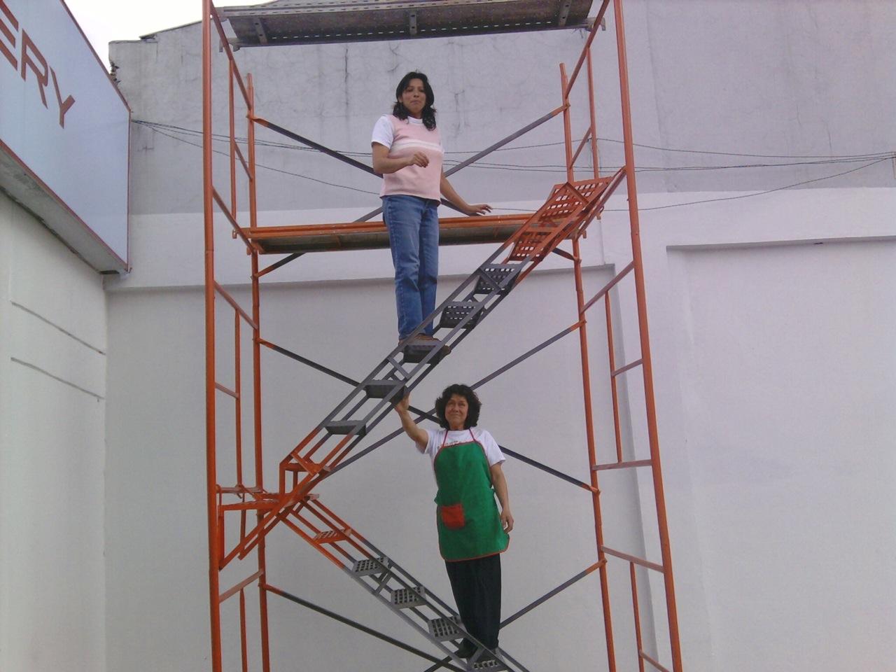 Fotos escalera para obra 018 alquiler de andamios - Alquiler de escaleras ...